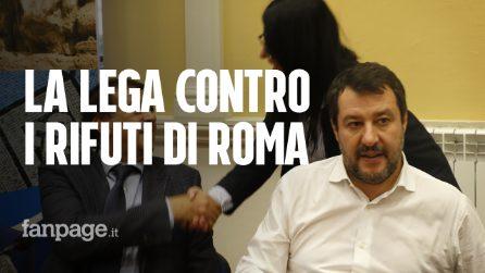 """Rifiuti, Salvini a Civitavecchia: """"Roma dorme, con Lega problema risolto in 5 anni"""""""