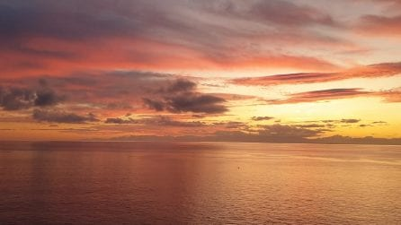 Tramonto sull'isola d'Elba: sembra un dipinto