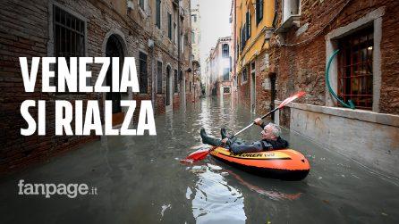 """Venezia, la marea si ferma a 150 cm. Il sindaco: """"Ci rialzeremo"""""""