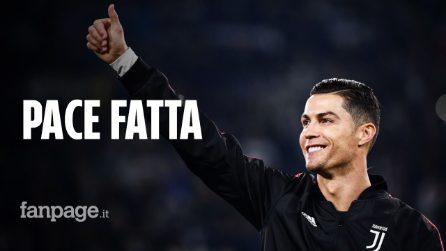 Cristiano Ronaldo-Juventus, pace fatta: il portoghese invita tutti i compagni a cena