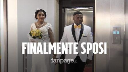 """Fuggiti dalla Nigeria, oggi Power e Peace si sposano in Italia: """"Qui siamo felici"""""""