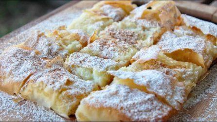 Torta sfoglia con crema: il dessert veloce e gustoso