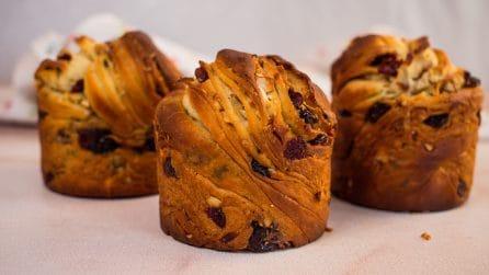 Mini panettoni fatti in casa: la ricetta semplice per farli alti e soffici!