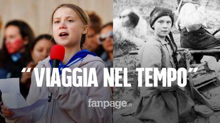 """""""Greta Thunberg viaggia nel tempo"""", la verità sulla foto con la sosia dell'attivista svedese"""