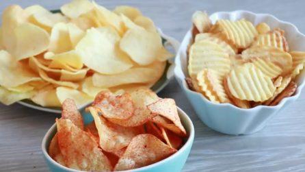 Chips di patate fritte croccanti velocissime da preparare
