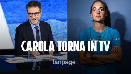 """Carola Rackete ospite di Che Tempo Che Fa, Fabio Fazio: """"Un onore e un piacere"""""""