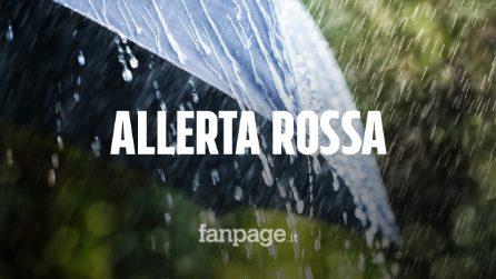 """Allerta meteo rossa in Liguria, esondati fiumi a Genova. """"Evento raro, muro d'acqua di 10 cm"""""""