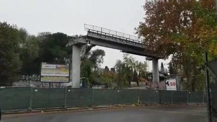 Demolizione della tangenziale Est: crolla il tratto del viadotto sopra alla Stazione Tiburtina