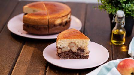 Torta soffice di mele e cioccolato: un dolce originale per una colazione speciale!