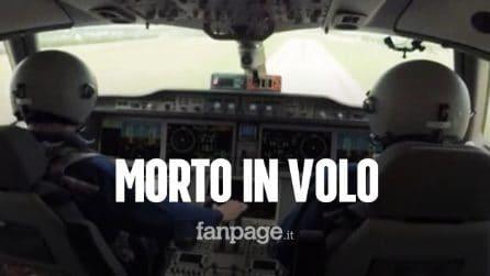 Pilota morto d'infarto mentre era in volo: aereo di linea costretto all'atterraggio d'emergenza