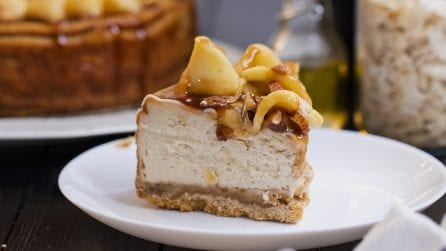 Caramel apple cheesecake: for those who have a sweet tooth!