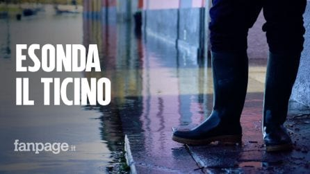 """A Pavia esondato il Ticino, Borgo Basso sotto l'acqua: """"Aspettiamo la piena del Po di questa sera"""""""