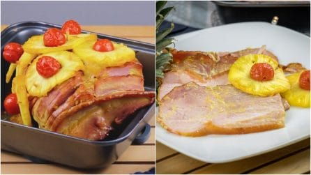 Baked Ham with Pineapple Recipe: nothing is easier or more delicious than this!