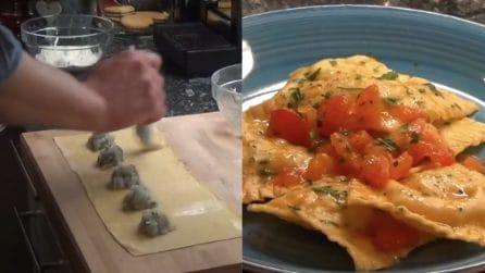 Ravioli scampi e gamberi: la ricetta del primo piatto davvero squisito