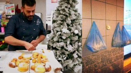 Il pasticcere dal cuore d'oro che non butta mai i dolci avanzati per donarli a chi ha bisogno
