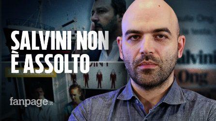 """Ong e migranti, Saviano: """"Salvini manipolatore bugiardo, i giudici non gli hanno mai dato ragione"""""""
