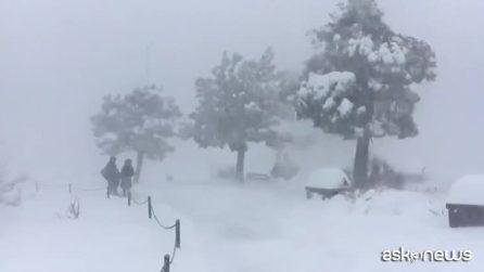 Mega tempesta di neve nel Grand Canyon