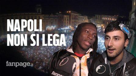 """Sardine in 10 mila a Napoli: """"Siamo contro chi ha portato l'odio in politica"""""""