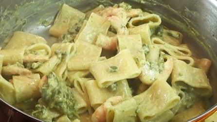 Calamarata con asparagi e mazzancolle: la ricetta del primo piatto molto saporito