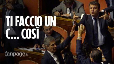 Senato, Salvini dice a Conte di vergognarsi e si scatena la bagarre: Centinaio insulta i grillini