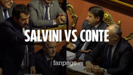 Dibattito sul Mes al Senato. Tra smorfie e ironia, le reazioni di Conte agli attacchi di Salvini