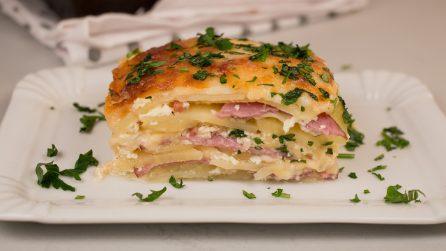 Potato lasagna: a delicious dish ready in no-time!