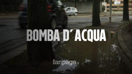 """Roma, piove e l'asfalto si sbriciola: """"In strada veri e propri crateri e nessuno pulisce i tombini"""""""