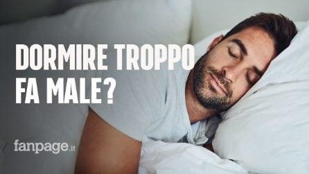 Dormire troppo fa male alla salute? Cosa può succedere se si dorme più di 8 ore a notte