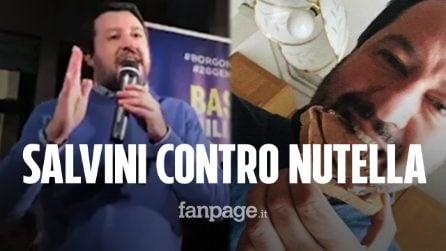 """Salvini contro la Nutella: """"Usa nocciole turche, preferisco aiutare agricoltori italiani"""""""