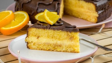 Fiesta cake: a tasty dessert with orange and chocolate flavors!