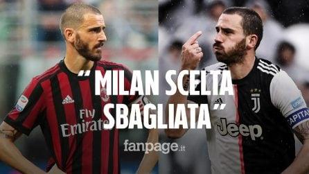 """Leonardo Bonucci: """"Andare al Milan è stata una scelta sbagliata"""""""