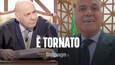 """Il giudice di Forum Francesco Foti ritorna in trasmissione dopo un anno: """"Dove eravamo rimasti?"""""""