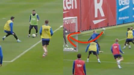 """Il gol """"magico"""" di Messi, prima due dribbling e poi tiro da posizione impossibile"""