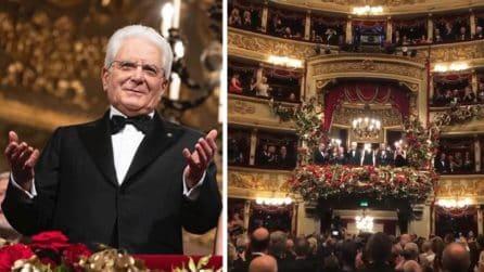 Prima della Scala, l'emozionante applauso del Teatro al Presidente Mattarella