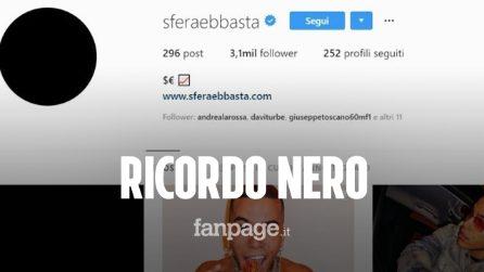 Sfera Ebbasta ricorda la strage di Corinaldo: post e foto profilo completamente neri