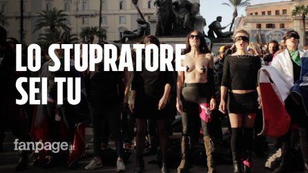 """Roma, centinaia di donne per il flash mob contro la violenza: """"El violador eres tu"""""""
