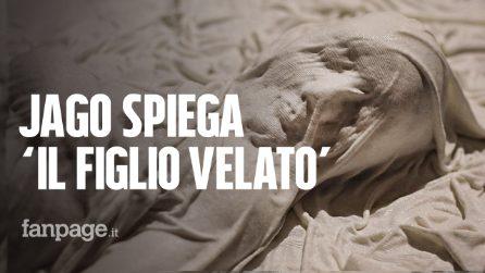 """Jago spiega """"Il figlio velato"""", l'opera donata al Rione Sanità, ispirata al """"Cristo velato"""" di Sanmartino"""