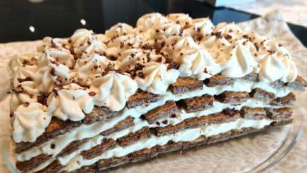 Mattonella al tiramisù: la ricetta del dessert goloso e senza cottura