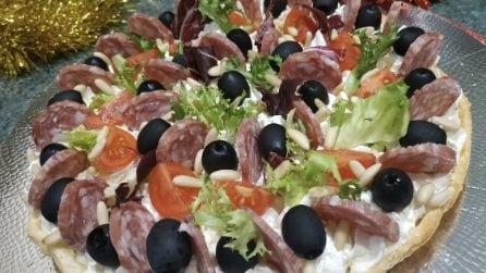 Crostata salata: la ricetta rustica per un aperitivo natalizio e gustoso