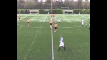 Il gol è velocissimo: 2 secondi e la palla è in rete