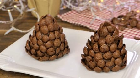 Chocolate pine cones: the perfect Christmas dessert!