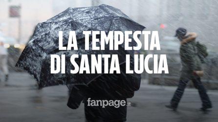 Allerta maltempo, arriva la tempesta di Santa Lucia: scuole chiuse e neve fino in pianura