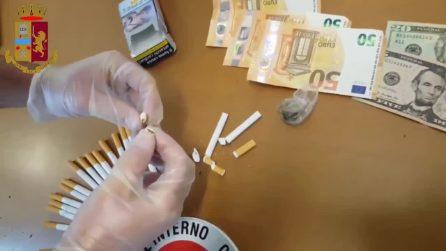 Il trucco dei pusher: la cocaina nascosta nelle sigarette