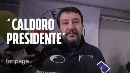 """Matteo Salvini a Napoli """"benedice"""" candidatura di Stefano Caldoro: """"Governò positivamente"""""""