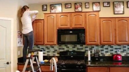 Marito e moglie smontano la cucina e la trasformano: la ristrutturazione bellissima