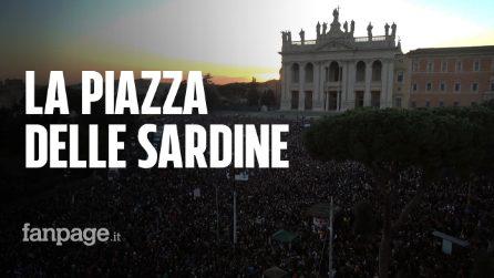 Roma, le immagini della piazza delle Sardine dall'alto