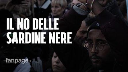 """Le Sardine Nere conquistano il palco: """"Decreti sicurezza vanno abrogati non modificati"""""""