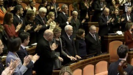 Concerto di Natale in Senato, lunghissimo e caloroso applauso per il presidente Mattarella