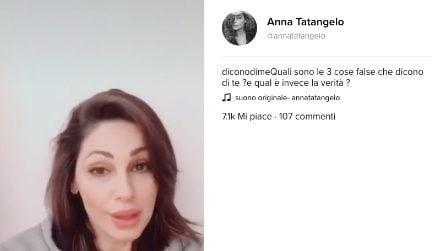 Anna Tatangelo partecipa alla challenge di Fanpage.it #diconodime su TikTok