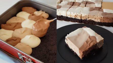 Quadrotti variegati: il dessert scenografico e golosissimo